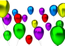 Purple,blue, green, yellow, pink and red birthday Stock Image