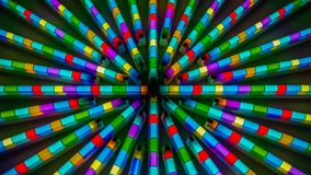 Florescent multi-colored network royalty free stock photography