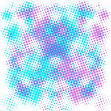 Purple and blue halftone background . Stock Images