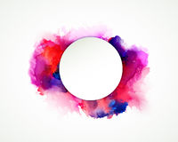 Purple, blue, lilac, orange and pink watercolor stains. Bright color element for abstract artistic background. Royalty Free Stock Images