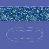 Purple-blue pattern with space for text Royalty Free Stock Images