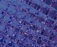 Purple Blue Patterns Royalty Free Stock Image