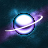 Purple blue planet glowing Royalty Free Stock Photo
