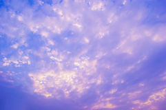 Purple and blue sky cloud  sunset Royalty Free Stock Image