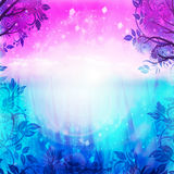 Purple and blue spring background Royalty Free Stock Photography