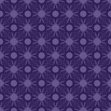 Purple and Blue Swirly Damask Seamless Pattern Royalty Free Stock Photography