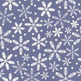 Purple Blue and white snowflakes royalty free illustration
