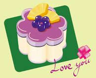 Purple blueberries cake Royalty Free Stock Photos
