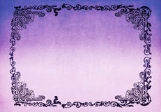 Purple Boarder. A purple tinted background with scroll and knot work design Royalty Free Stock Photography