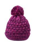 Purple bobble hat Stock Images