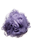 Purple body scrubber, scrub, sponge Stock Photo