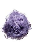 Purple body scrubber, scrub, sponge Stock Photo