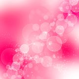 Purple bokeh background with hearts and sparkle Stock Photos
