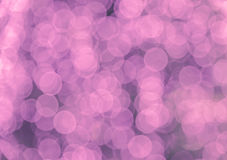 Purple bokeh of circle light background Royalty Free Stock Photography