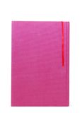 A purple book. Single ribbon book on decoration Stock Photography