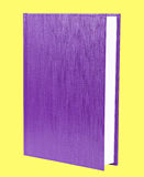 Purple book standing isolated Stock Photo