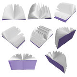 Purple books. 3D purple books isolated on white background Royalty Free Stock Image