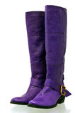 Purple boots Royalty Free Stock Photo