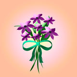 Purple bouquet Royalty Free Stock Images