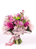 Purple bouquet. Violet bouquet made of varied beautiful flowers stock image