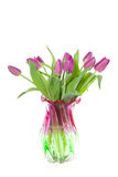 A purple bouquet of tulips Royalty Free Stock Photography
