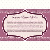 Purple Boutique Template Royalty Free Stock Photos