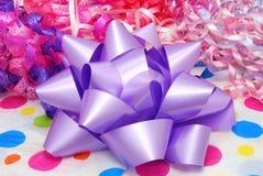 Purple Bow Stock Photo
