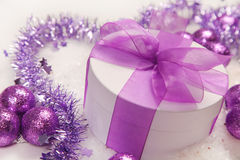Purple bow Royalty Free Stock Photography