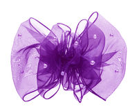 Purple bow Stock Photo