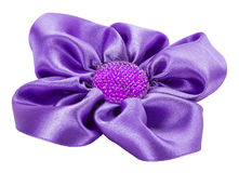 Purple bow isolated on the white background Royalty Free Stock Image