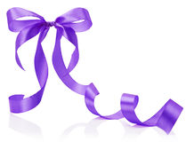 Purple bow isolated on the white background Royalty Free Stock Images