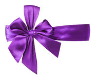 Purple bow isolated on the white background Royalty Free Stock Photos