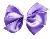 Purple bow ribbon Royalty Free Stock Image
