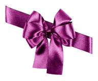 Purple bow from silk Stock Photo