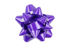 Purple Bow From Top Stock Photos