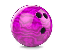 Purple, bowling ball. 3d render Purple bowling ball. Isolated on white background Royalty Free Stock Image