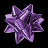 Purple bows shiny Stock Photos