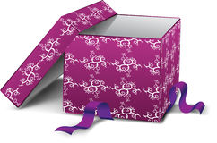 Purple box Stock Image
