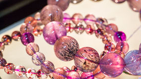 Purple bracelet gemstone Royalty Free Stock Photos