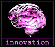 Purple Brain!. Purple brain. Innovation royalty free illustration