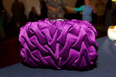Purple Bridal Clutch Purse Stock Photo