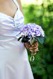 Purple bridesmaid bouquet Stock Photos