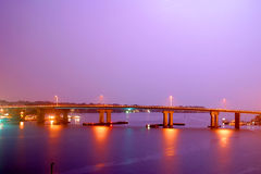 Purple bridge Royalty Free Stock Photo