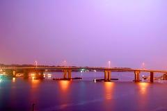 Purple bridge Royalty Free Stock Photo