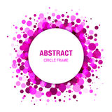 Purple Bright  Abstract Circle Frame Design Stock Images