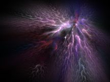 Purple bright abstract fractal effect light background Royalty Free Stock Photos
