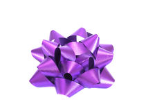 Purple bright bow Royalty Free Stock Photography