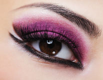 Purple bright make-up stock images