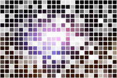 Purple brown black occasional opacity mosaic over white Royalty Free Stock Photos