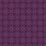 Purple Brown Colors Flower Pattern Design. Stock Photos